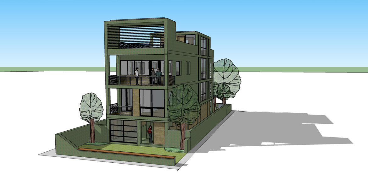 Green Light District Architect Drawing 1